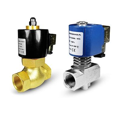 Electroválvulas de agua caliente y agua a 180 ° C