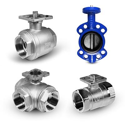 Válvulas con una base de montaje para actuadores