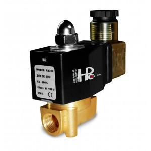 Válvula solenoide 2N08 1/4 230V o 24V, 12V Viton - resistente a los productos químicos