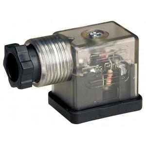 Enchufe a la electroválvula DIN 43650B con LED - pequeño