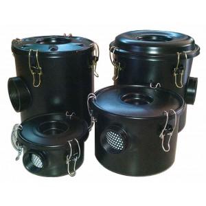 Filtro de aire con carcasa para bomba de aire vortex, soplador de canal lateral, 1 1/4 pulgada