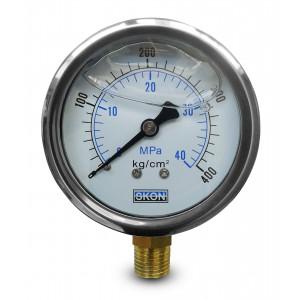 Manómetro de glicerina 400 bar