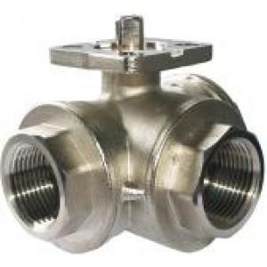 Válvula de bola de 3 vías placa de montaje DN25 de 1 pulgada ISO5211