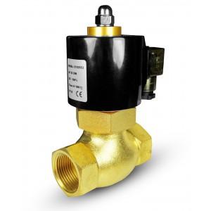 Válvula de solenoide para vapor y alta temperatura 2L20 3/4 pulgada180 ° C