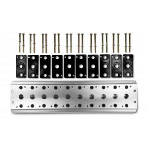 Placa colectora para conectar 10 válvulas 1/4 series 4V2 4A terminal de válvulas grupales 5/2 5/3