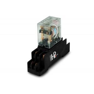 Relé 10A 2x NO / NC con una base para montaje en un riel DIN