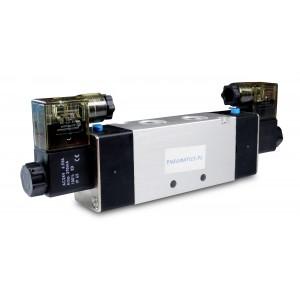 Válvula solenoide 4V220 5/2 1/4 pulgada para cilindros neumáticos 230V o 12V, 24V