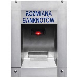 Cambiador de dinero de billetes de banco a monedas