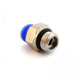 Enchufe de la boquilla recta manguera 8mm rosca 1/8 de pulgada PC08-G01
