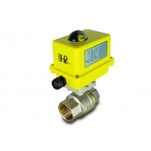 Válvula de bola 1 1/2 pulgada DN40 con actuador eléctrico A250