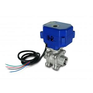 Válvula de bola de 1/2 pulgada de acero inoxidable PN125 con actuador eléctrico A80 o A82