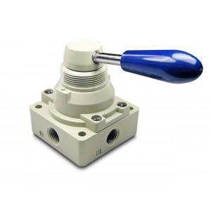 Válvula manual 4/3 4HV230-08 actuadores de 1/4 pulgadas
