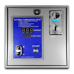 La inflación de neumáticos automática electrónica paga monedas para montaje en la pared