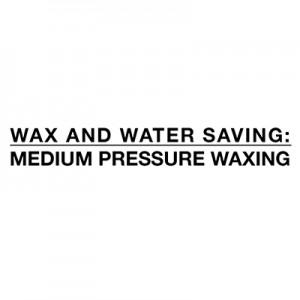 Ahorro de agua y cera - depilación a presión media