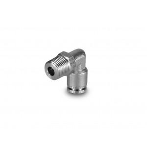 Enchufe boquilla en ángulo de acero inoxidable manguera 6 mm rosca 1/4 pulgada PLSW06-G02