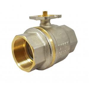 Válvula de bola 1 1/2 pulgada DN40 PN25 placa de montaje ISO5211