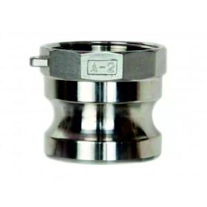 Conector Camlock - tipo A 1 pulgada DN25 SS316