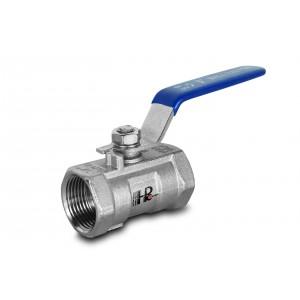 Válvula de bola de acero inoxidable de 1 pulgada DN25 con palanca de mano - 1 pieza