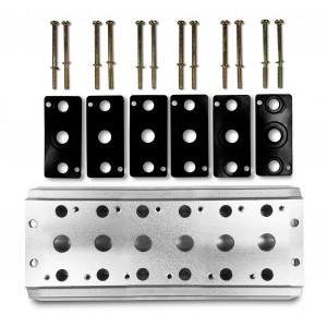 Placa colectora para conectar 6 válvulas 1/4 series 4V2 4A terminal de válvulas grupales 5/2 5/3