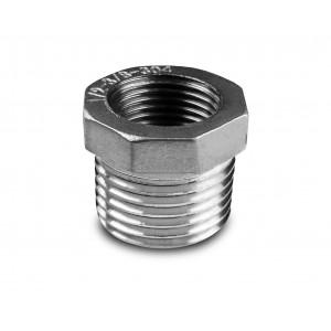 Reducción de acero inoxidable 1/2 - 3/8 de pulgada