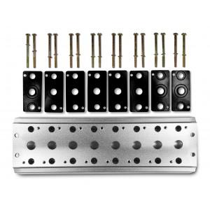 Placa colectora para conectar 8 válvulas 1/4 series 4V2 4A terminal de válvulas grupales 5/2 5/3