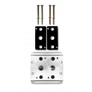 Placa de colector para conectar 2 válvulas 1/4 series 4V2 4A terminal de válvulas de grupo 5/2 5/3