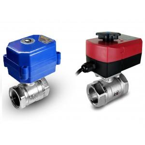Válvula de bola de 1 1/4 de pulgada con actuador eléctrico A80