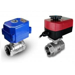 Válvula de bola de 1/2 pulgada de acero inoxidable con actuador eléctrico A80 o A82