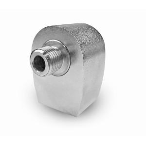 Conector giratorio angular para mesa giratoria de lavado de 1/4 pulgada