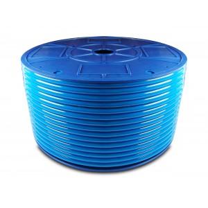 Manguera neumática de poliuretano PU 6/4 mm 200m azul