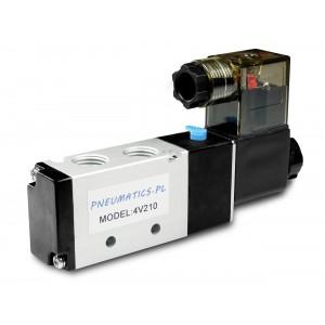 Válvula solenoide para cilindros neumáticos 4V210 5/2 1/4 230V 12V 24V