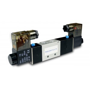 Válvula solenoide 4V230C 5/3 1/4 pulgada para cilindros neumáticos 230V o 12V, 24V