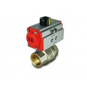 Válvula de bola de latón 1 1/2 pulgada DN40 con actuador neumático AT52