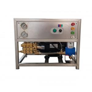 Coloque la bomba y el motor en el bastidor para lavar con accesorios 13 l / min equivalente a 150 bar CAT350