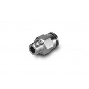 Enchufe boquilla recta manguera de acero inoxidable de 8 mm rosca 1/8 pulgada PCSW08-G01