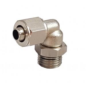 Accesorios rápidos para tubo 6/4 con codo de rosca 1/8 de pulgada RPL 6/4-G01