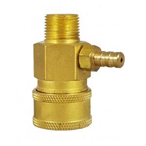 Conector rápido de alta presión de 3/8 de pulgada con inyector de succión de química