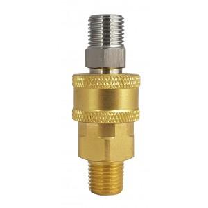 Conector rápido de alta presión con rosca externa de 3/8 de pulgada